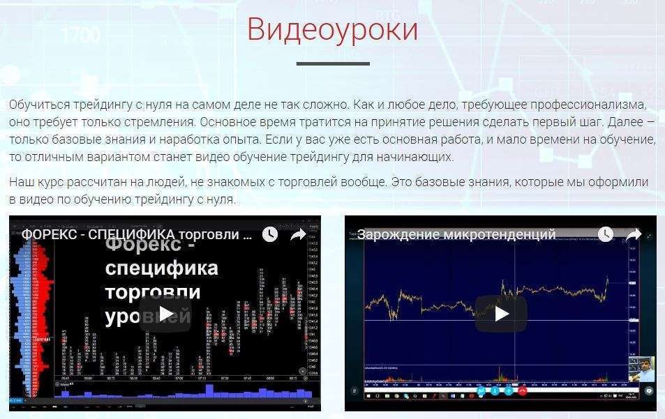 Бесплатные видеоуроки на akdtrading.ru